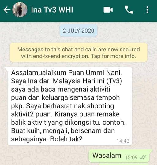 Umminnai di MHI TV3