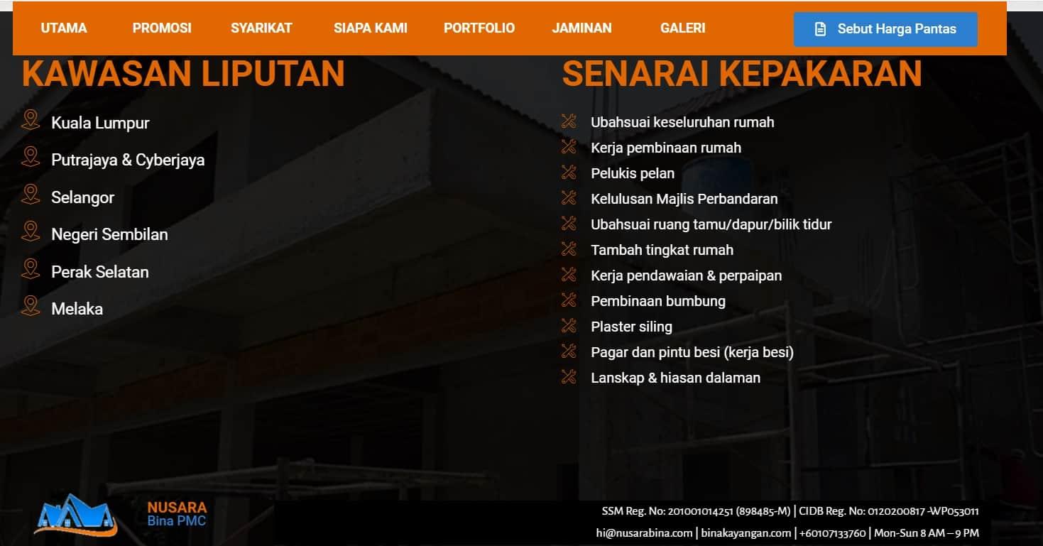 Nusaraya Bina PMC  - kena tipu dengan kontraktor